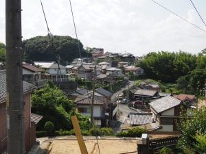 清雲院跡の先の高台(伊勢市尾上町)からの眺望