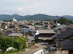 宇治と山田の境界から登った高台(伊勢市勢田町)からの眺望