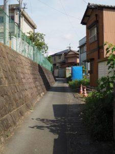 伊勢市営庭球場付近〜伊勢市立修道小学校の校門