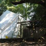 新御敷地に覆屋が建てられた清野井庭神社(豊受大神宮 摂社)