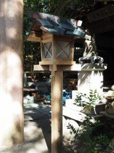 洗われた常夜燈、豊川茜稲荷神社(茜社)