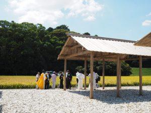 抜穂祭を終えて(神宮神田)