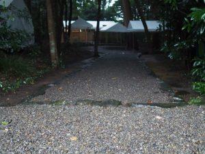 参道入口のスロープが外された鴨下神社(皇大神宮 末社)