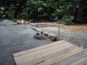 御造替が始まった清野井庭神社(豊受大神宮 摂社)