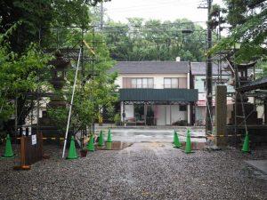 まだ建てられていない3基目の鳥居、須原大社(伊勢市一之木)