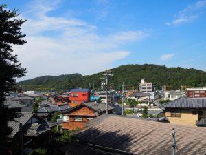 小田神社(伊勢市岡本)付近からの遠望