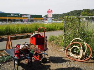 田上大水神社(豊受大神宮 摂社)社叢付近で見かけた消防道具