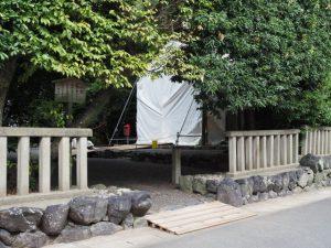 御造替が進められる清野井庭神社(豊受大神宮 摂社)