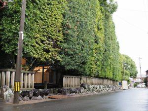 殿舎の屋根には雁股矢と鏑矢、清野井庭神社(豊受大神宮 摂社)