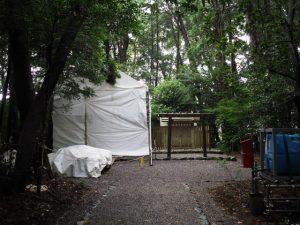 御造替が開始された小社神社(皇大神宮 末社)