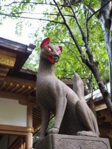 豊川茜稲荷神社の眷属(伊勢市豊川町)