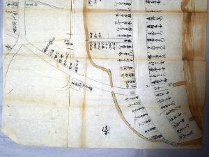 合体された古絵図、古文書の会(2017.10.08)@河邊七種神社社務所にて