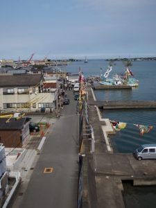 内宮への御幣鯛の奉納を終えて神社港へ