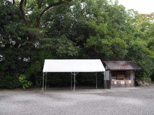 初穂曳の準備(外宮 表参道)