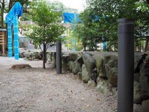 新たに設置された照明装置、須原大社(伊勢市一之木)