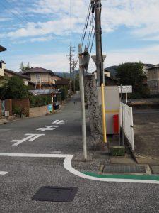 三条前バス停付近(古市街道)