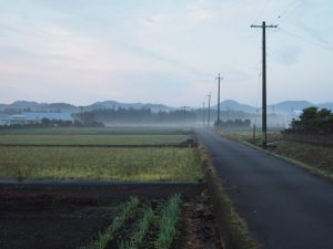 上棟祭前日の朝、小社神社(皇大神宮 末社)周辺