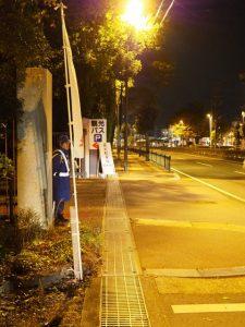 茜社の臨時駐車場となった外宮の観光バス駐車場