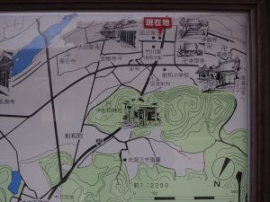 射和・中万ごあんない板の地図