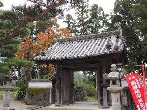 延命寺の山門(松阪市射和町)