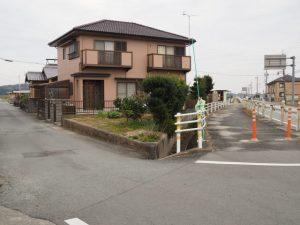 県道701号から松電廃線跡へ