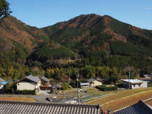 熊野古道三瀬坂峠 三瀬川登り口付近からの風景