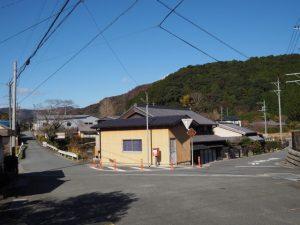 熊野古道から望む野後城跡(度会郡大紀町)