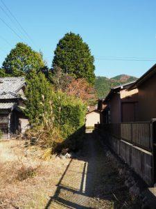 熊野古道から国道42号へと続く路地