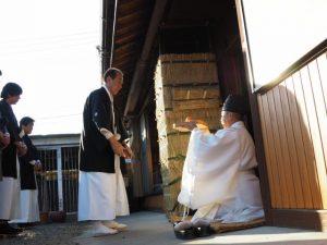 奉安・献饌、オワケ祭(伊勢市御薗町高向)