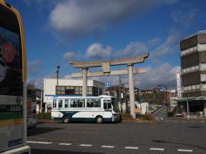 能褒野神社一の鳥居(JR亀山駅前)