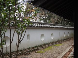 亀山演武場裏の土塀と狭間