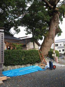 社務所の建て替え工事、御薗神社(伊勢市御薗町王中島)