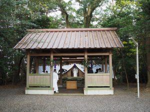 祭典の日、御薗神社(伊勢市御薗町王中島)