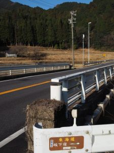 国道1号を離れて東海道(亀山市関町市瀬)