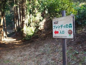 AGFブレンディの森 入口の案内板