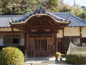 本陣松屋の玄関が移築された法安寺庫裡の玄関(亀山市関町坂下)