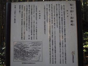坂下宿、片山神社の説明板