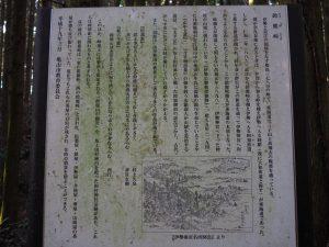 鈴鹿峠の説明板