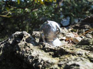 鈴鹿山の鏡岩にて