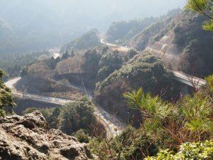鈴鹿山の鏡岩からの眺望