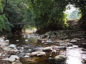 鈴鹿川の飛び石(亀山市関町沓掛)