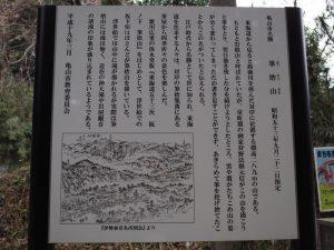筆捨山の説明板