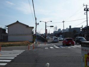 桑名神明社付近の交差点