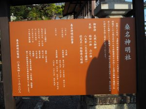 桑名神明社の説明板