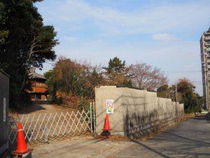 諸戸徳成邸入口(桑名市東方)