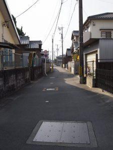 三岐鉄道北勢線 西桑名第4号踏切へ