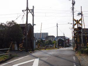 三岐鉄道北勢線 西桑名第4号踏切(桑名市矢田)