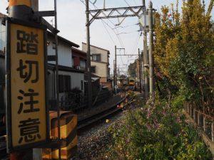 西桑名第4号踏切から望む三岐鉄道北勢線 馬道駅