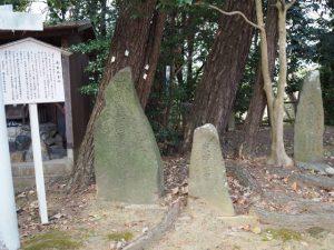 庚申供養塔、お菊稲荷神社付近(桑名市矢田)